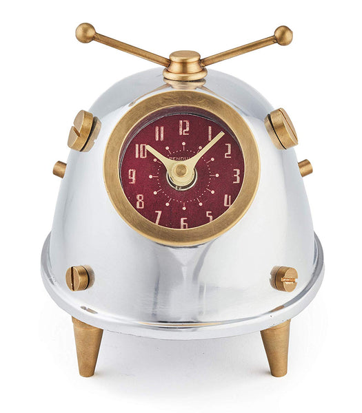 Pendulux Space Bug Table Clock Aluminum