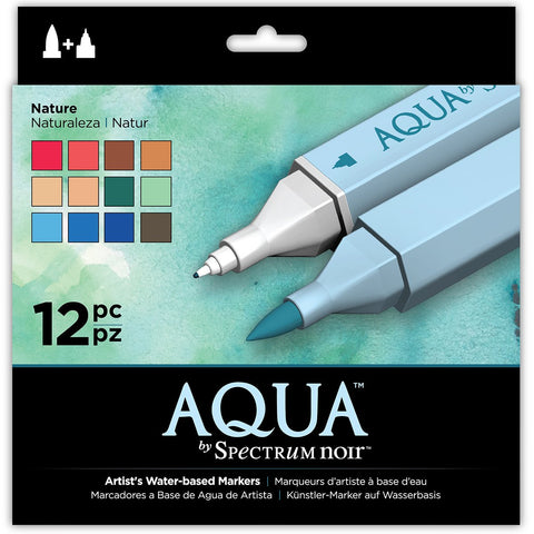 Spectrum Noir Aqua Markers Nature 12 pc Crafters Companion