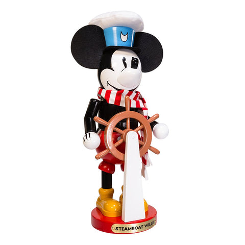 Steinbach Nutcracker Christmas MICKEY Mouse Steamboat Willie 15""