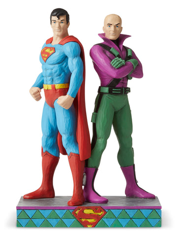 Superman vs Lex Luthor DC Comics Figurine Jim Shore Enesco 9""