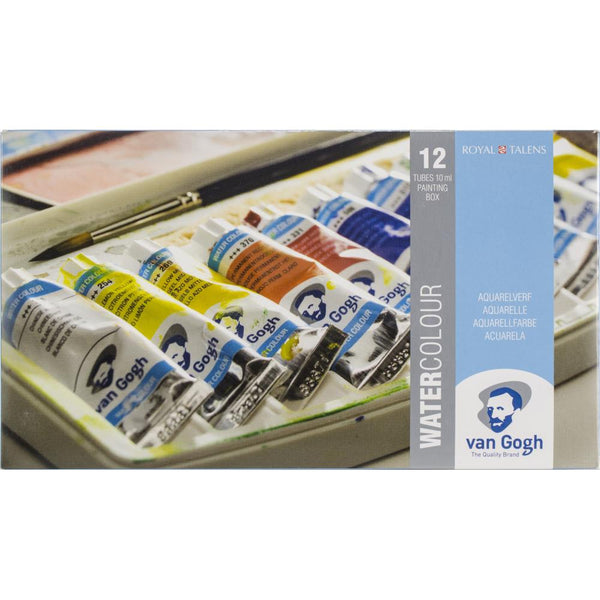 Van Gogh Watercolor 12 Tubes Plastic Pocket Box