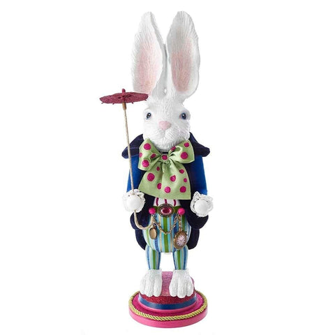 Alice in Wonderland Nutcracker Hollywood White Rabbit Kurt Adler 18""
