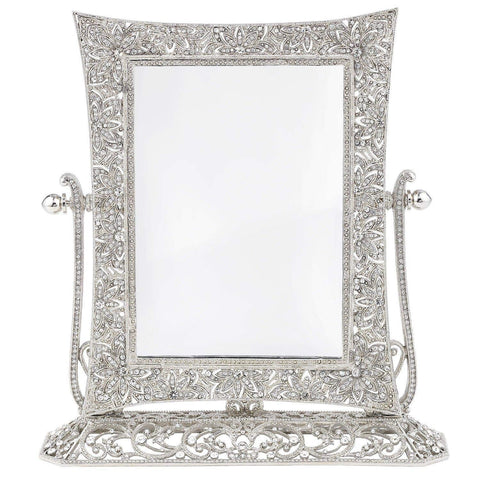 Olivia Riegel WINDSOR Magnified Standing Mirror Silver