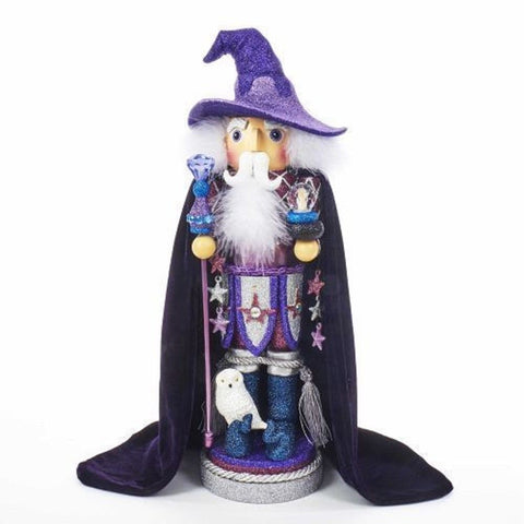 Kurt Adler Nutcracker Hollywood Purple Wizard 18""