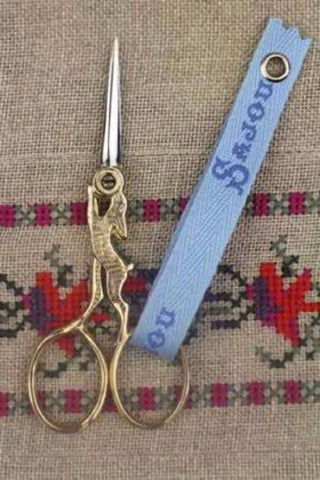 "Embroidery SCISSORS Hare Rabbit GILDED FRENCH Sajou 4"" w/ Box"