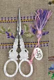 Embroidery SCISSORS Sajou SWAN Motif Mother of Pearl 4-1/2""