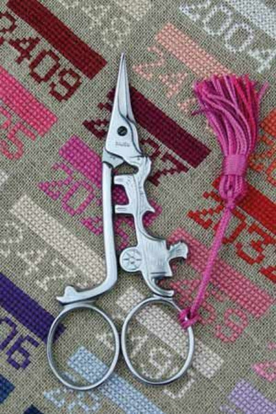 Embroidery SCISSORS Sajou CART Chrome 4-1/2""