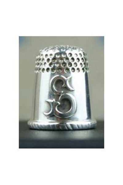 Sajou SILVER Thimble Letter S for Sajou Hand Made in FRANCE w/ Box