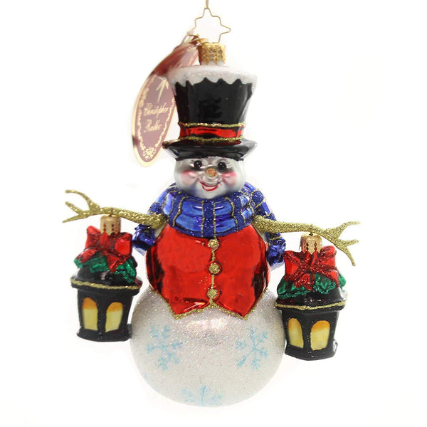 Christopher Radko CHRISTMAS Ornament Winter Watchman 2018, Glass 6.5""