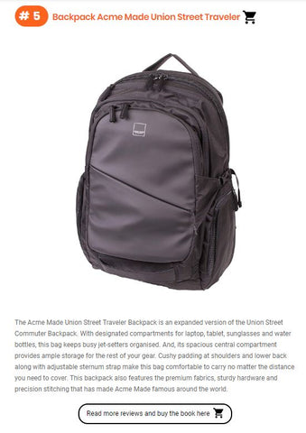 union street traveler backpack