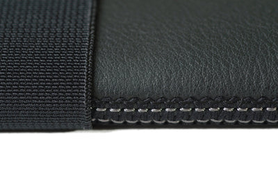 Skinny Sleeve - Small ACME Made Black Leather Stitching