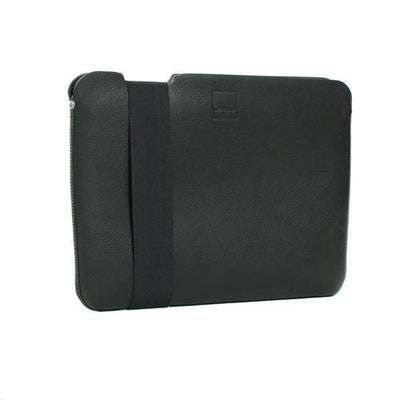 Skinny Sleeve – Large ACME Made Black Leather Front Angle
