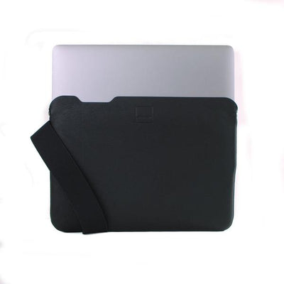 Skinny Sleeve – Large ACME Made Black Leather Laptop