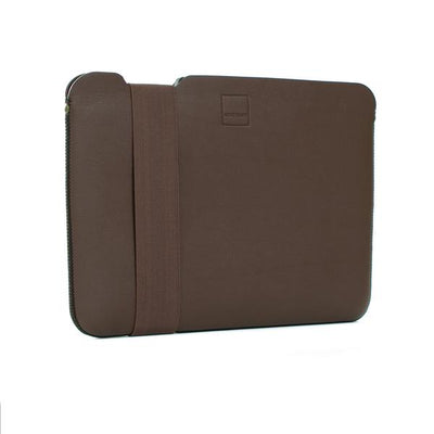 Skinny Sleeve – Large ACME Made Brown Leather Front Angle