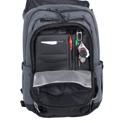 Divisadero Traveler Backpack ACME Made Front Pocket open