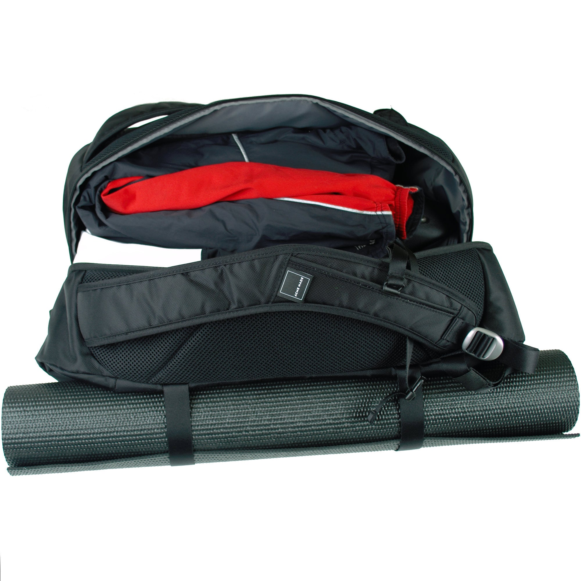 Union Street Gym Backpack Open Yoga Mat · Union Street Gym Backpack  Stuffing Gym Clothes Into Bag 9cbdb63e6a2ae