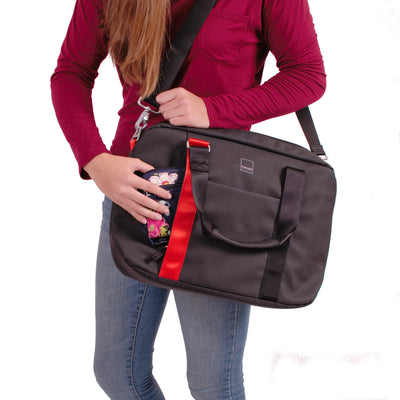 North Point Attaché ACME Made Red Shirt Girl Carrying Bag