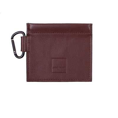 Mini Spring-top Pouch Genuine Brown Leather ACME Made Front