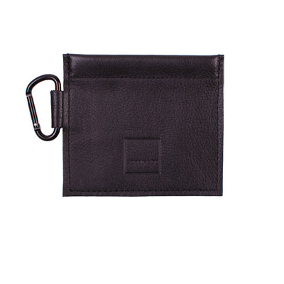 Mini Spring-top Pouch Genuine Black Leather ACME Made Front