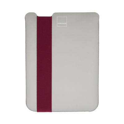 Skinny Sleeve Tablet Medium ACME Made Grey Fuchsia Front