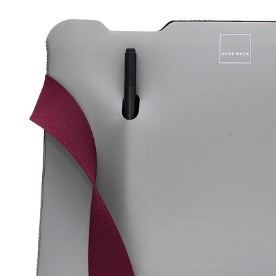 Skinny Sleeve – Large Acme Made Grey Fuchsia stylus pocket