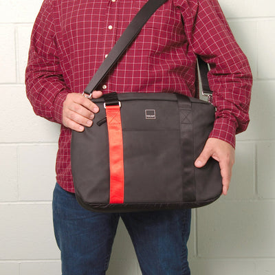 North Point Attaché ACME Made Red Shirt Guy Carrying Bag