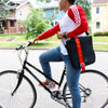 North Point Messenger Bag ACME Made Guy Track Jacket on Bike