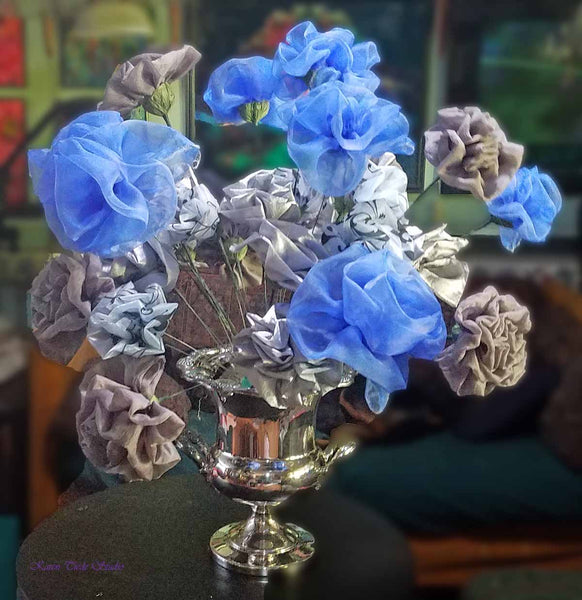 More flowers into Silver Hydrangea.3