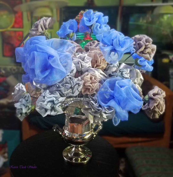 More flowers into Silver Hydrangea. 4