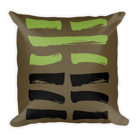 08 Unity Hexagram Throw Pillow