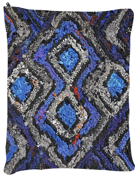 "Black and Blue Celtic OUTDOOR Dog Bed - Dog Beds - Medium 30"" x 40"" -  Karen Tiede Studio - 2"