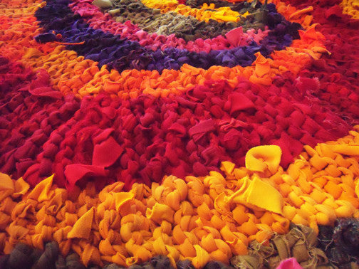 "Colors of India Rag Rug, 48"" - Knitted rug -  -  Karen Tiede Studio - 4"