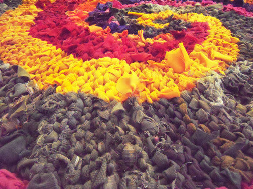 "Colors of India Rag Rug, 48"" - Knitted rug -  -  Karen Tiede Studio - 3"