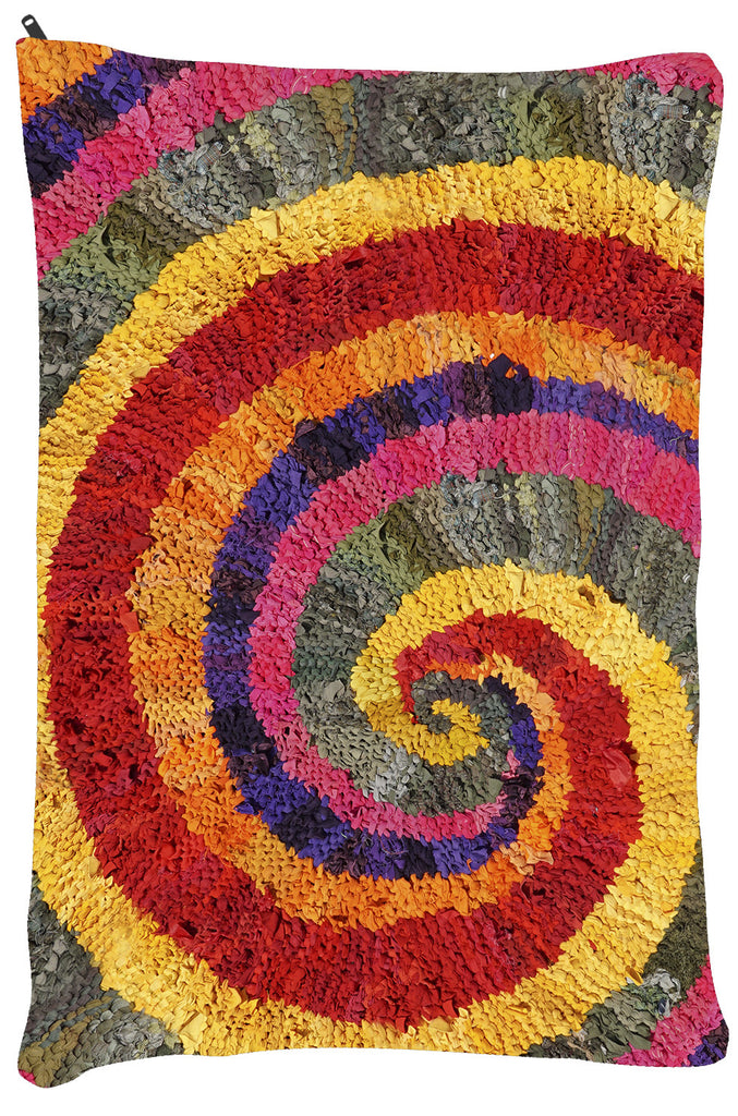 "Colors of India Spiral Dog Bed - Dog Beds - Small 18"" x 28"" -  Karen Tiede Studio - 3"