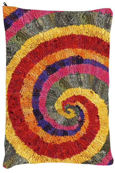 "Colors of India Spiral OUTDOOR Dog Bed - Dog Beds - Small 18"" x 28"" -  Karen Tiede Studio - 3"