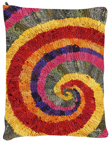 "Colors of India Spiral Dog Bed - Dog Beds - Medium 30"" x 40"" -  Karen Tiede Studio - 2"