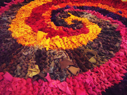 "Colors of India Rag Rug, 48"" - Knitted rug -  -  Karen Tiede Studio - 5"