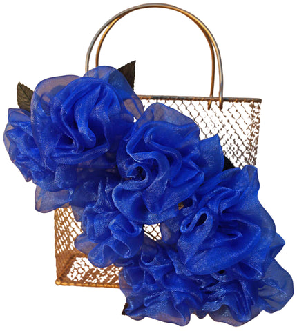 Blue Rose Basket