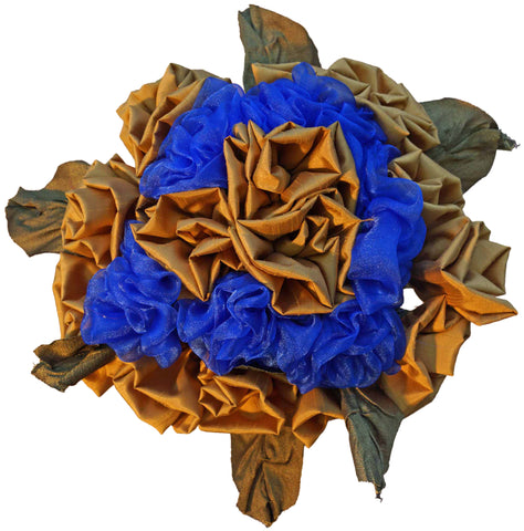 Blue & Gold Rose Bouquet