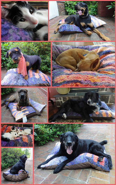 Red Fassett Dog Bed - Dog Beds -  -  Karen Tiede Studio - 4