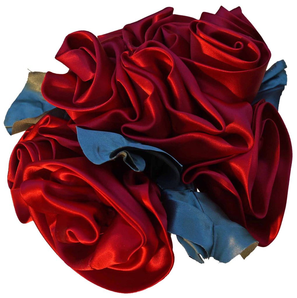 Red Satin Rosebud Bouquet