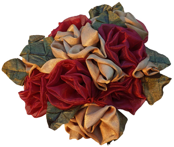Red & Gold Rose Bouquet