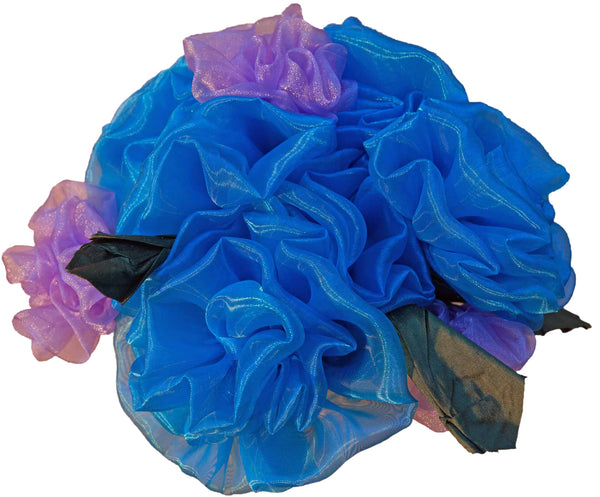 Turquoise & Lavender Fabric Roses