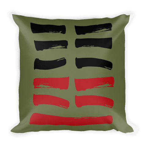 24 Returning Hexagram Throw Pillow