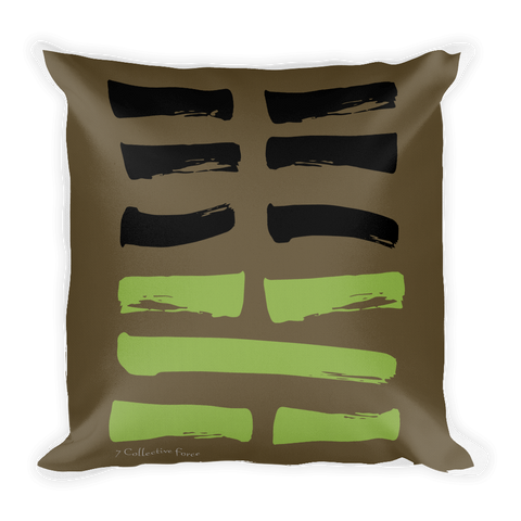 07 Army Hexagram Throw Pillow