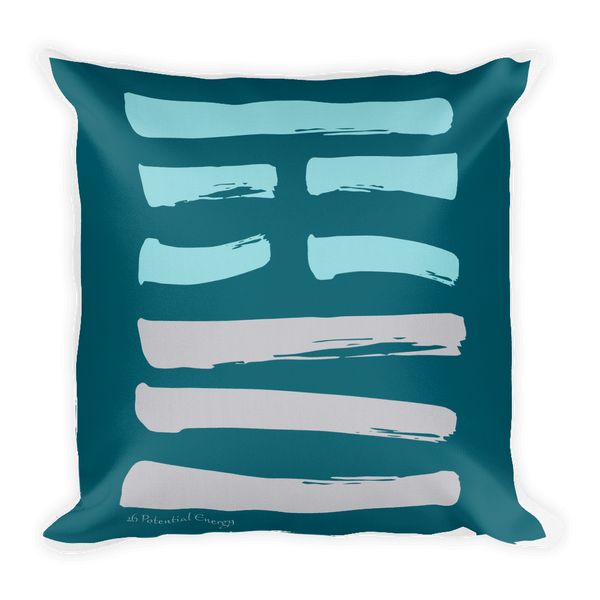 26 Potential Hexagram Throw Pillow