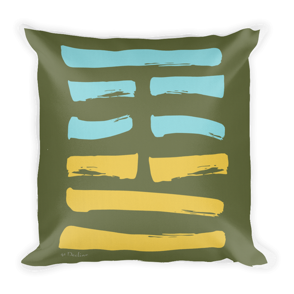 41 Decline Hexagram Throw Pillow