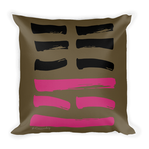 36 Censorship Hexagram Throw Pillow