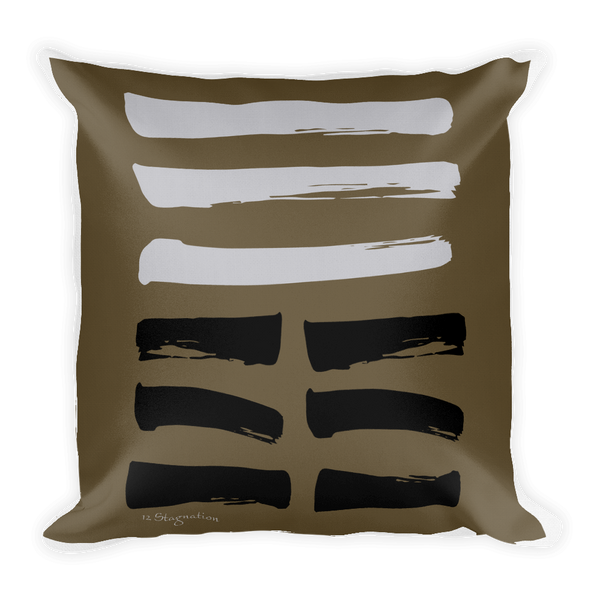 12 Stagnation Hexagram Throw Pillow