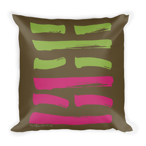 63 After the End Hexagram Throw Pillow